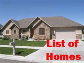 List of Homes for Sale in Cedar Hills Utah